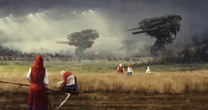 War Europe Paintings Eastern Rozalski Jakub Mecha