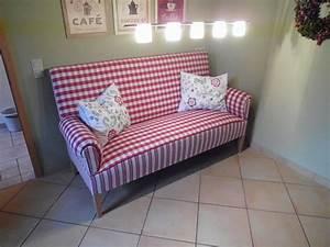 Sofa Für Küche : schwedensofa k chensofa 3 sitzer mit hohem r cken karo streifen ebay wohnen m bel ~ Eleganceandgraceweddings.com Haus und Dekorationen