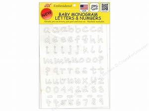 joy applique iron on mono baby 1 2quot lower white With joy iron on embroidery letter sheet
