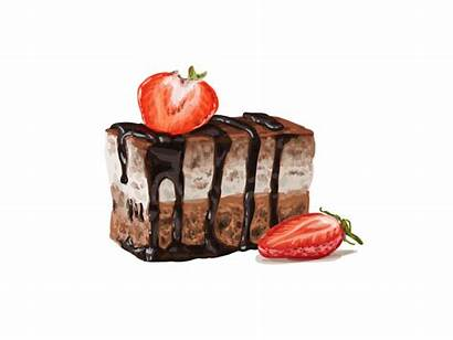 Dessert Watercolor Cake Drawing Desserts Sweet Dribbble