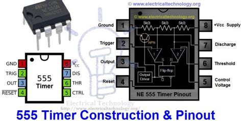 555 Timer Ic Types, Construction, Working & Applications