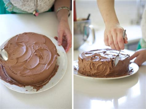 styled eats   perfectly frost  messy cake