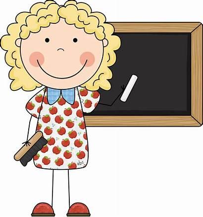 Teacher Clipart Cartoon Clip Teachers Education Kindergarten