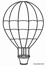 Balloon Air Coloring Pages Printable Cool2bkids sketch template
