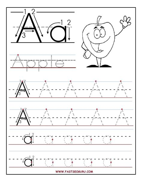 free printable letter a tracing worksheets printable