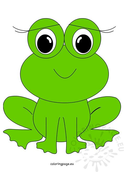 smiling cute frog image coloring page