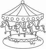 Carousel Coloring Horse Pages Beside Pool Hippocampus sketch template