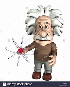 Albert Einstein With A Atom Stock Photo  Royalty Free Image  19114964