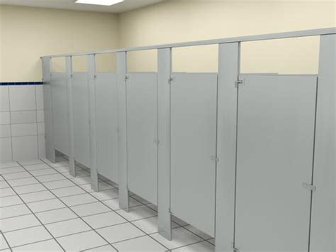 Commercial Bathroom Wall Dividers Floor Mounted Overhead Braced Bathroom Partitions