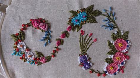 hand embroidery designs monogram alphabet  youtube