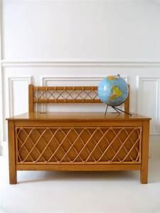 Coffre En Rotin : coffre jouets vintage en bois et rotin triptyque co ~ Teatrodelosmanantiales.com Idées de Décoration
