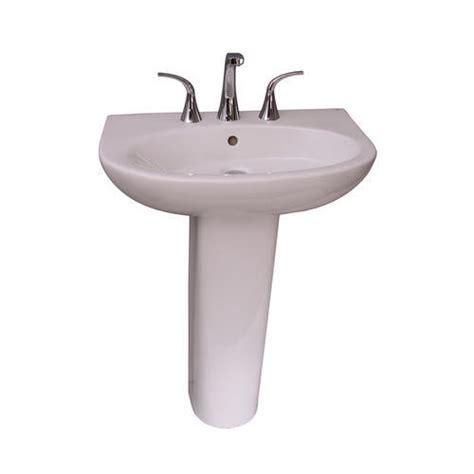 Menards White Pedestal Sink by Barclay Infinity 600 Pedestal Sink 8 Quot Widespread At Menards 174