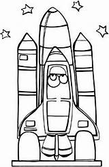 Space Shuttle Coloring Drawing Center Nasa Pages Astronaut Getdrawings sketch template