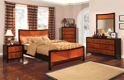 two tone wood bedroom furniture contemporary two tone finish bedroom set