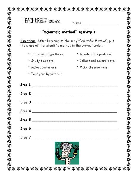 scientific method activity worksheet for 3rd 4th grade lesson planet
