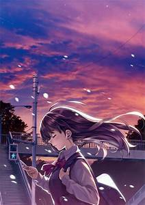 Alone, Long, Hair, Schoolgirls, Anime, Girls, Wallpapers, Hd, Desktop, And, Mobile, Backgrounds