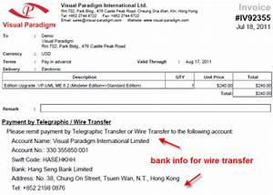 Visual paradigm know how how to purchase an upgrade for Wire transfer invoice