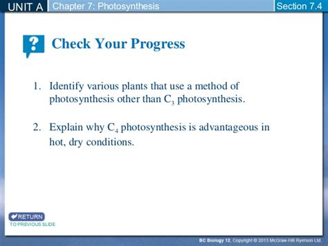 Biology 12  Alternative Pathways To Photosynthesis