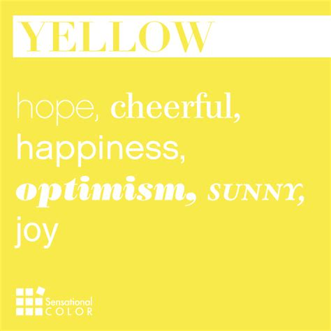 color yellow meaning words that describe yellow sensational color