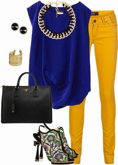 Yellow Outfits Pants Jeans Outfit Polyvore Colored