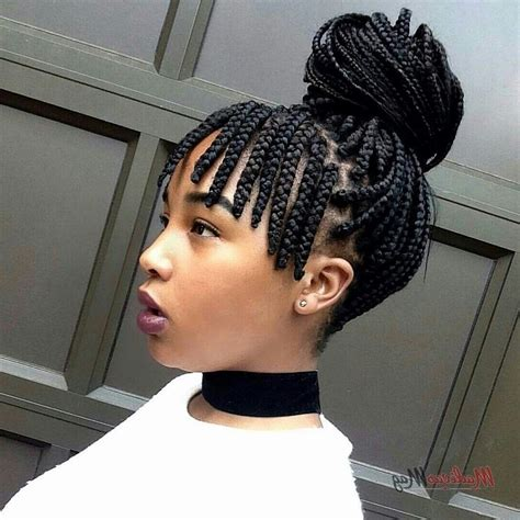 2019 latest braided hairstyles with bangs