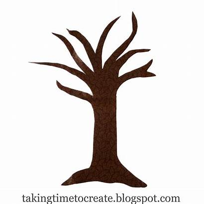 Tree Trunk Outline Clipart Bare Leafless Clip