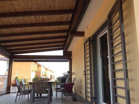 tendoni per terrazzi gallery of veranda con coperto in cannicciato a doppio