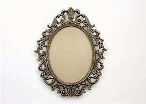 vinateg ornate gold frame // large oval from ...