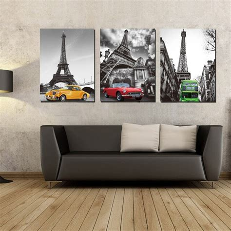 3d wall panels featured on many diy shows a. Unframed 3 Panel Eiffel Tower Canvas Oil Painting by Numbers Print Wall Art Picture Home Decor ...