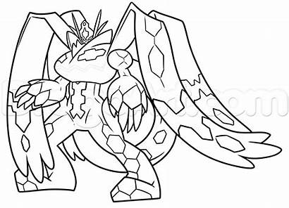 Zygarde Draw Complete Step Form Drawing Pokemon