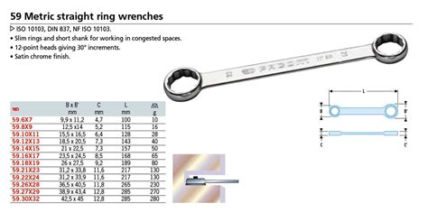 Straight Box Wrench 6pc Set (8-19mm)(59.JN6)