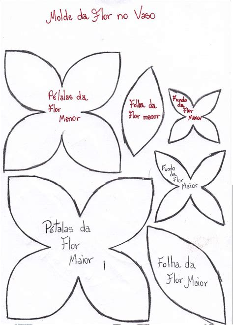 16 best patrones de flores on paper flowers fabric flowers and flower template