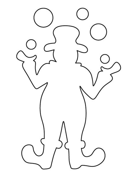 clown pattern   printable outline  crafts