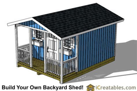 12x20 shed plans with porch 12x16 shed with porch icreatables