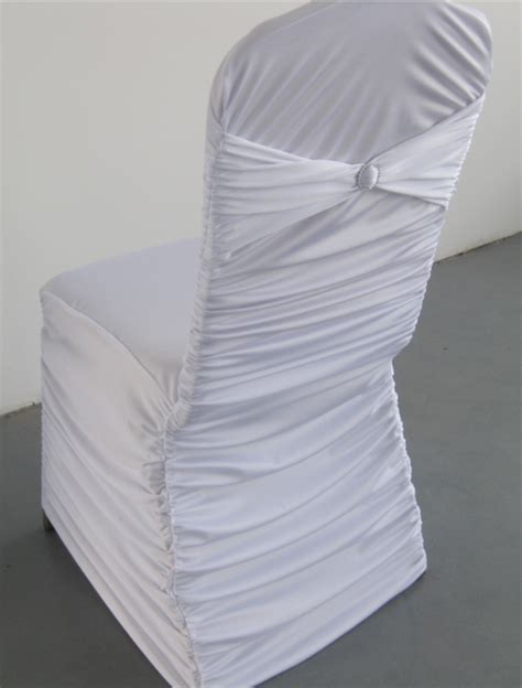 ruched chair covers for wedding white colour universal