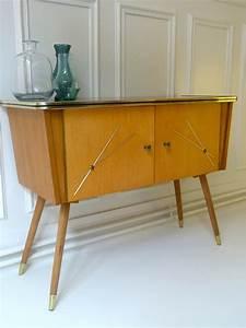 Meuble Scandinave Vintage : meuble style scandinave pieds compas 60 39 triptyque co ~ Teatrodelosmanantiales.com Idées de Décoration