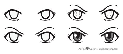 Anime Eyes Looking Left How To Draw Anime Eyes And Eye Expressions Tutorial