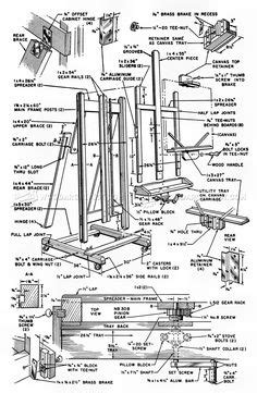 frre plans  portable artist easel  storage portable easel assembly projects