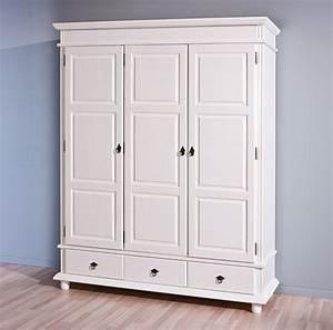 Armoire Chambre Blanche : armoire danz blanche 3 portes battantes ~ Teatrodelosmanantiales.com Idées de Décoration