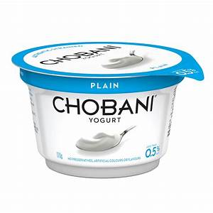 Chobani Plain Greek Style Yoghurt 170g - from RedMart