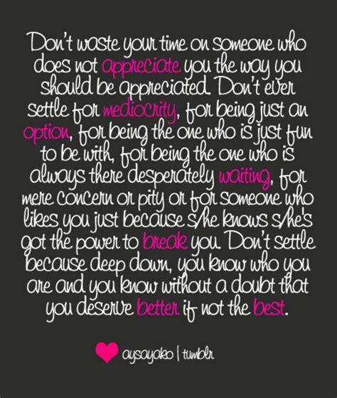 U deserve better than me quotes