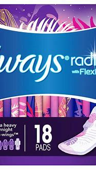 Always Radiant Heavy Overnight Pads, Winged, Scented, Size ...