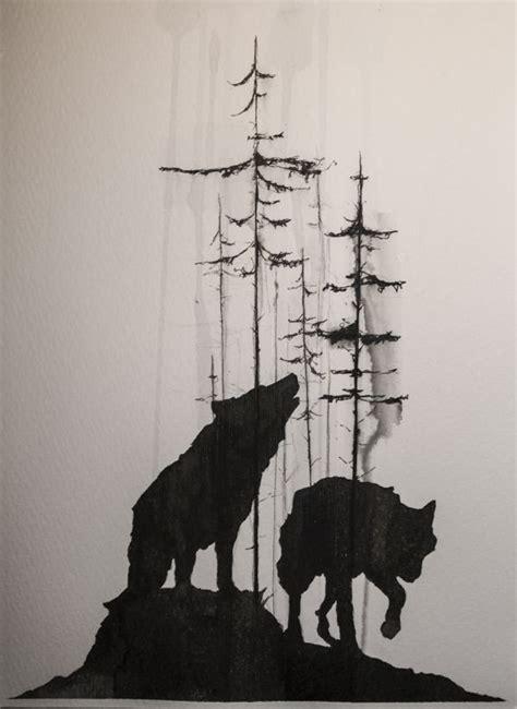 wolf tattoos ideas  pinterest forest tattoo