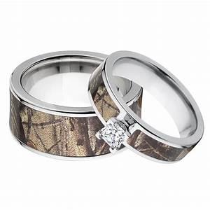 outdoor his her39s realtree ap camo wedding ring set With realtree camo wedding rings for her