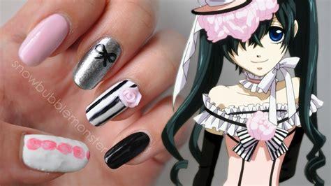 kuroshitsuji ciel phantomhive inspired nails female ver