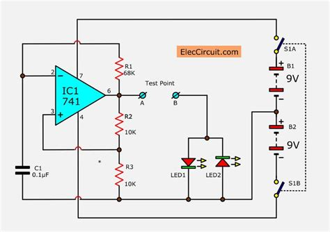 Diode Tester Circuit Using Led Eleccircuit