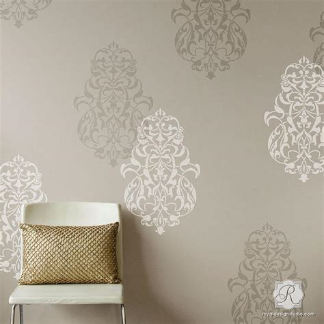medallion kitchen cabinets ornament wall stencils for painting large