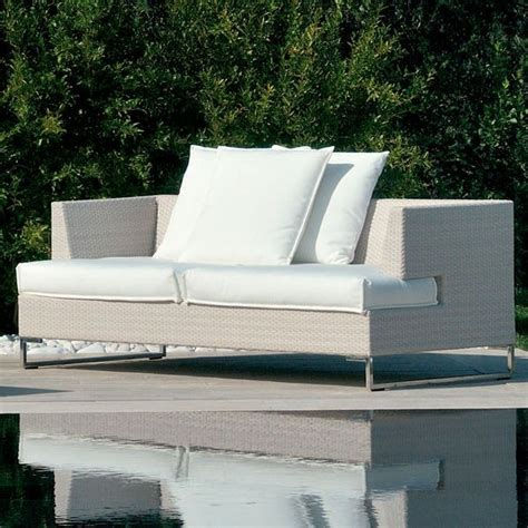 outdoor sofa in white wicker outdoor sofas chicago