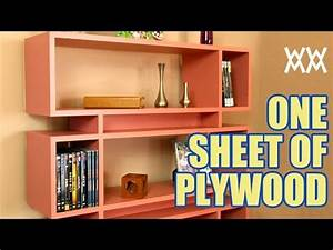 Make a bookcase using a single sheet of plywood - YouTube