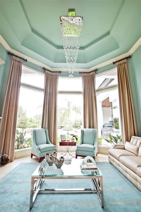 fresh  pastel style  living room  mint hues